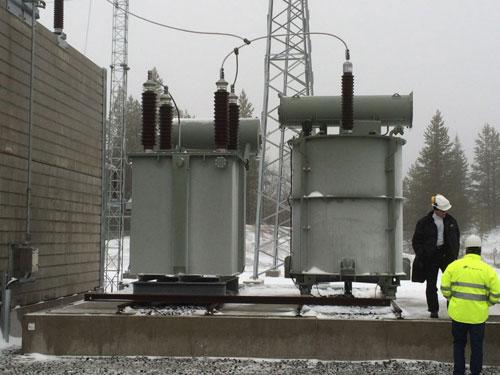 110 kV-Oil resistor with taps (left)